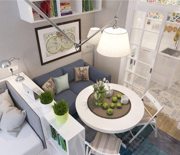 Фотография: Мебель и свет в стиле Лофт, Эклектика, Декор интерьера, DIY, Малогабаритная квартира, Квартира, Белый, Бежевый, Серый – фото на INMYROOM