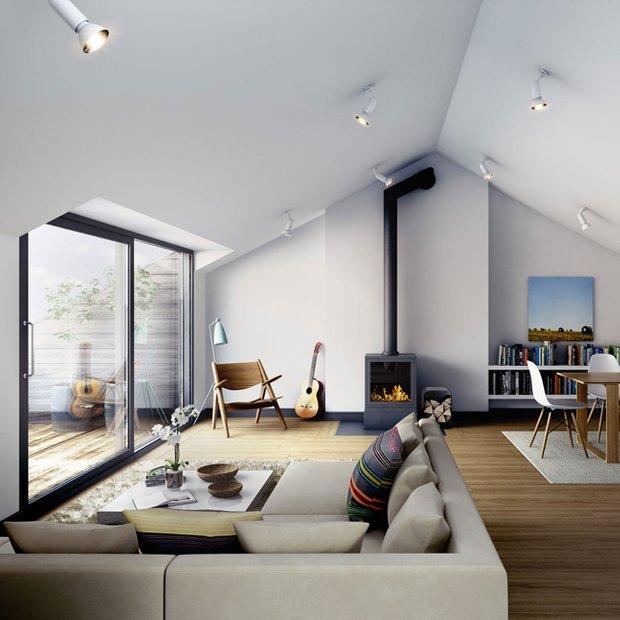 Фотография: Гостиная в стиле Современный, Декор интерьера, Дом, Декор дома, Камин – фото на INMYROOM