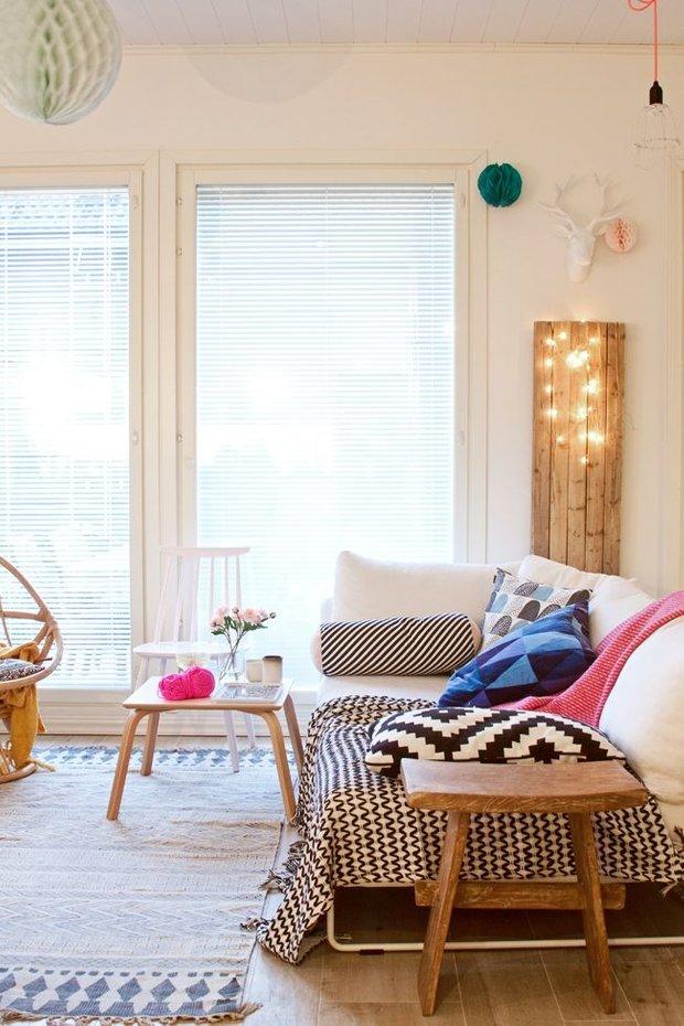 Фотография: Гостиная в стиле Скандинавский, Декор интерьера, DIY, Аксессуары, Интерьер комнат, Декор, Мебель и свет – фото на INMYROOM