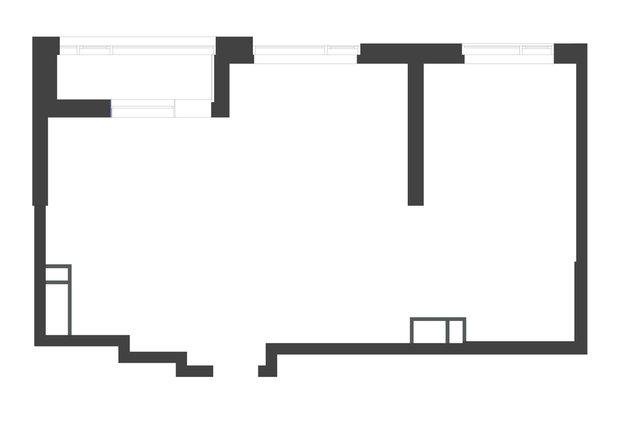 Обмерный план двухкомнатной квартиры в ЖК «Символ» площадью 67,7 кв. м