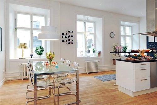 Фотография: Кухня и столовая в стиле Скандинавский, Современный, Декор интерьера, Мебель и свет, Журнальный столик – фото на INMYROOM