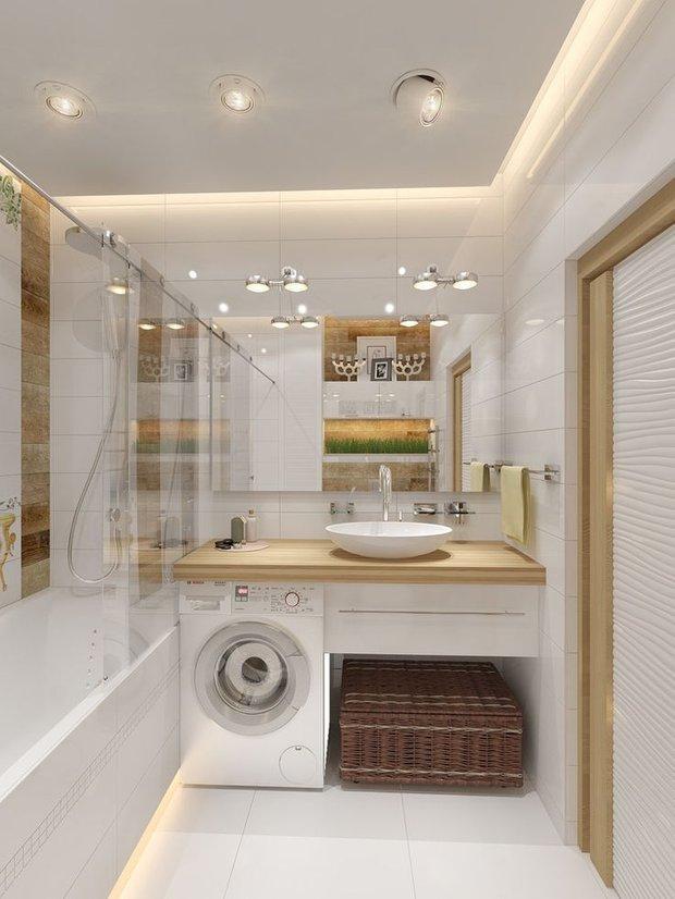 Фотография:  в стиле , Ванная, Советы, лайфхаки, интерьер ванной, как сделать ванную комфортной, удобная ванная, расположение в ванной – фото на INMYROOM