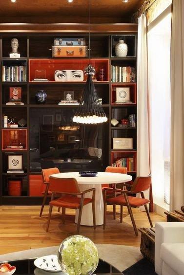 Фотография: Гостиная в стиле Современный, Лофт, Квартира, Дома и квартиры, Стеллаж, Барная стойка – фото на INMYROOM