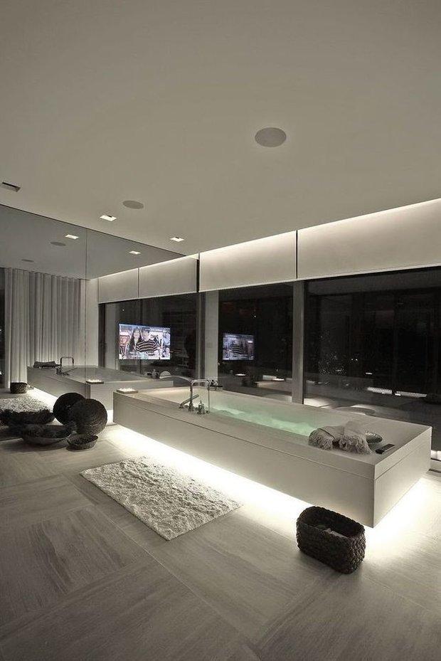 Фотография: Ванная в стиле Современный, Хай-тек, Декор интерьера, Декор, Мебель и свет, освещение – фото на INMYROOM