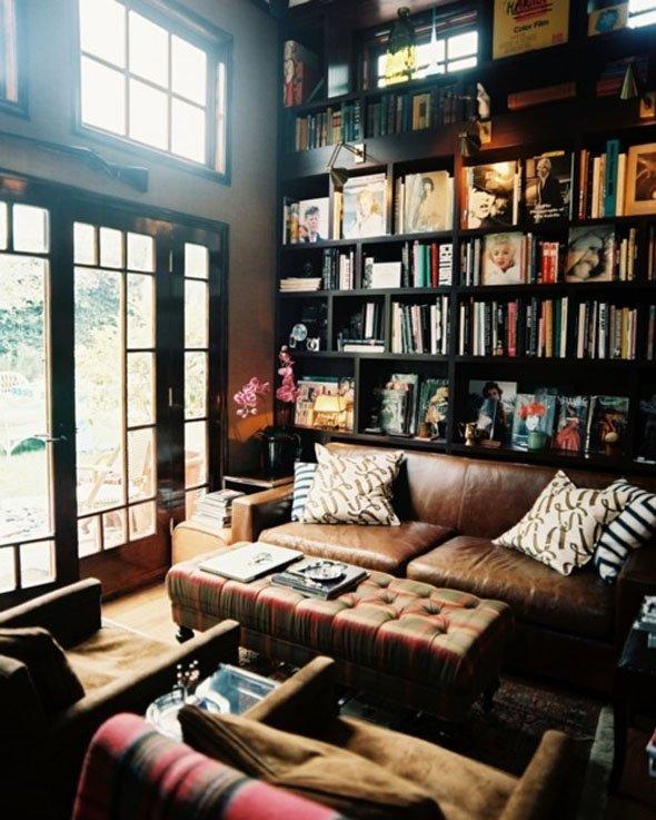 Фотография: Гостиная в стиле Классический, Современный, Системы хранения, Библиотека, Домашняя библиотека – фото на INMYROOM