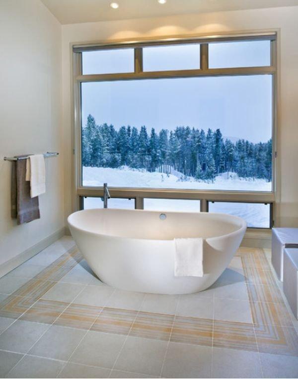 Фотография: Ванная в стиле Скандинавский, Декор, Стиль жизни, Советы, Камин, Плед – фото на INMYROOM
