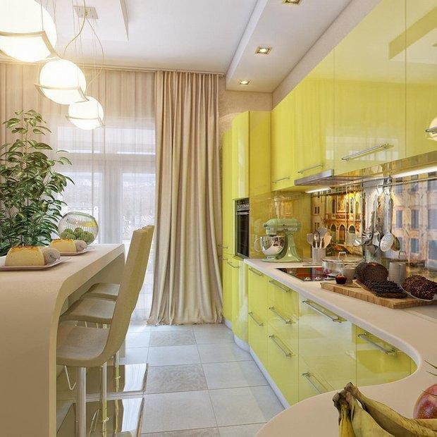 Фотография:  в стиле , Кухня и столовая, Советы, Черный, Бежевый, Оранжевый – фото на INMYROOM