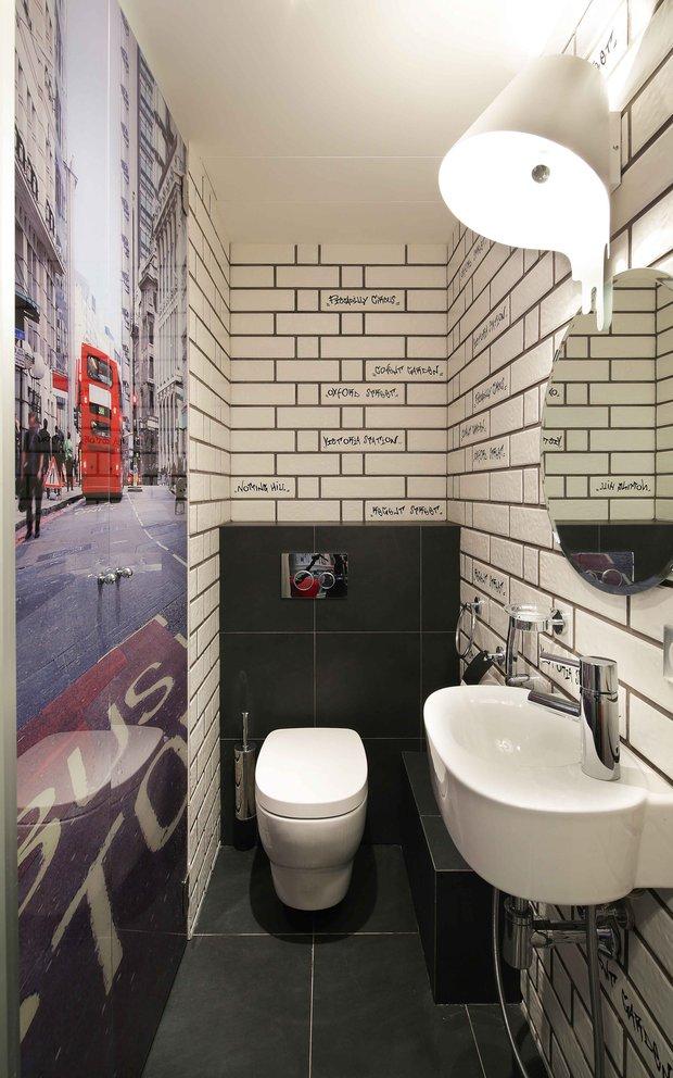Фотография: Ванная в стиле Лофт, Современный, Эклектика, Квартира, Проект недели – фото на INMYROOM