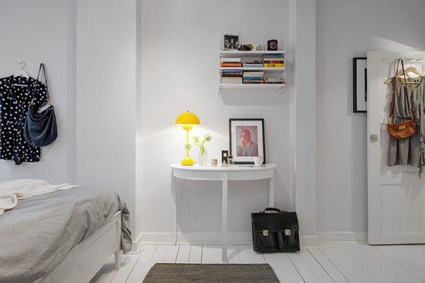 Фотография: Спальня в стиле Скандинавский, Малогабаритная квартира, Квартира, Швеция, Дома и квартиры, Гетеборг – фото на INMYROOM