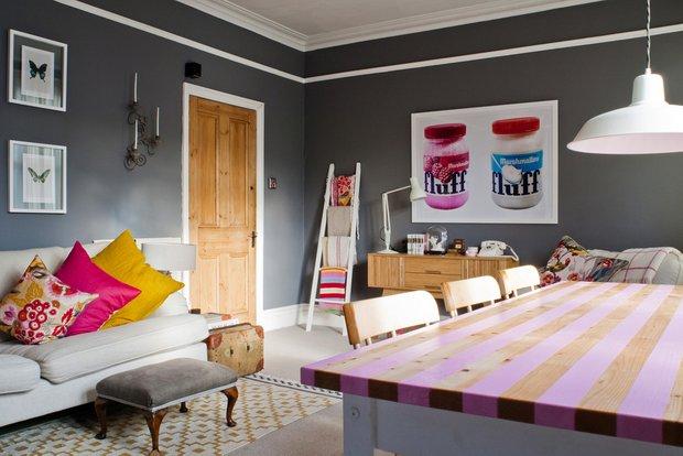 Фотография: Кухня и столовая в стиле Эклектика, Декор интерьера, Декор дома, Цвет в интерьере, Геометрия в интерьере – фото на INMYROOM