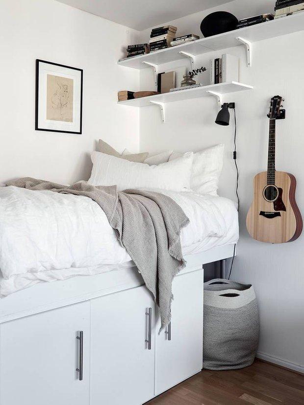 Фотография: Спальня в стиле Скандинавский, Малогабаритная квартира, Советы – фото на INMYROOM