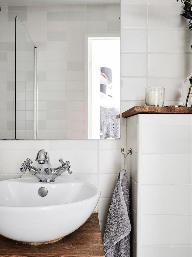 Фотография: Ванная в стиле Скандинавский, Квартира, Советы – фото на INMYROOM