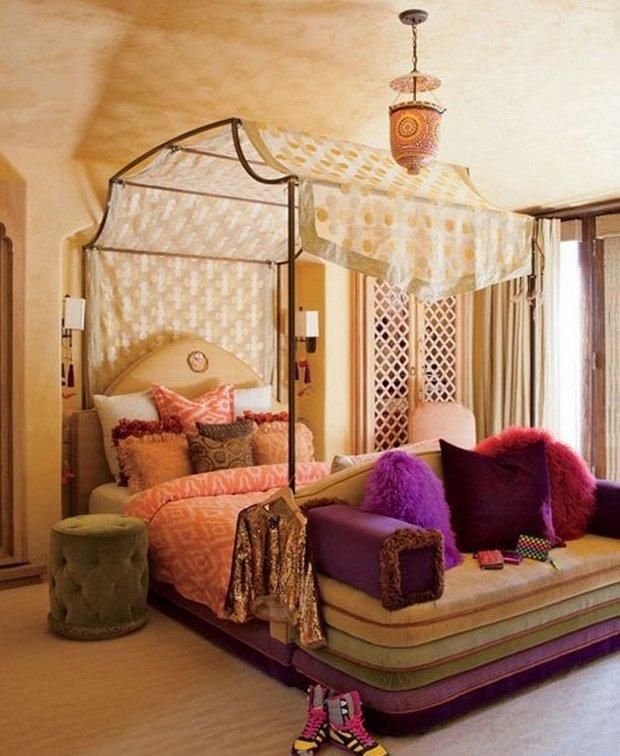 Фотография: Спальня в стиле Современный, Восточный, Дома и квартиры, Интерьеры звезд – фото на INMYROOM