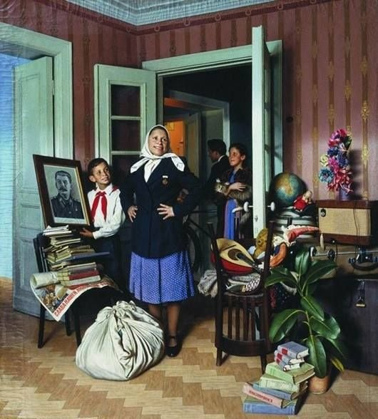 Лактионов Александр Иванович (Россия, 1910 - 1972) «Переезд на новую квартиру» 1952