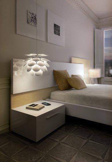 Фотография: Спальня в стиле Современный, Декор интерьера, Marset, Мебель и свет, Светильник – фото на INMYROOM