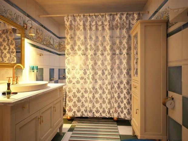 Фотография: Ванная в стиле Прованс и Кантри, Современный, Дом, Дома и квартиры – фото на INMYROOM