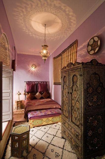 Фотография: Спальня в стиле Восточный, Декор интерьера, Декор, марроканский стиль в интерьере, марокканский стиль – фото на INMYROOM