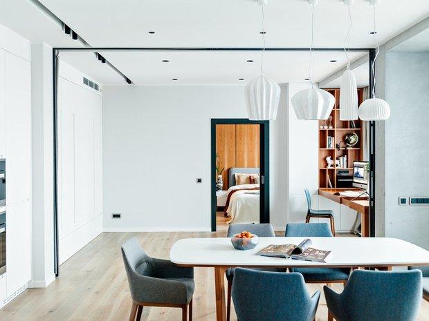 Фотография: Кухня и столовая в стиле Современный, Knauf, Ремонт на практике, Geometrium, Александра Сафронова, Кнауф, Rotband – фото на INMYROOM