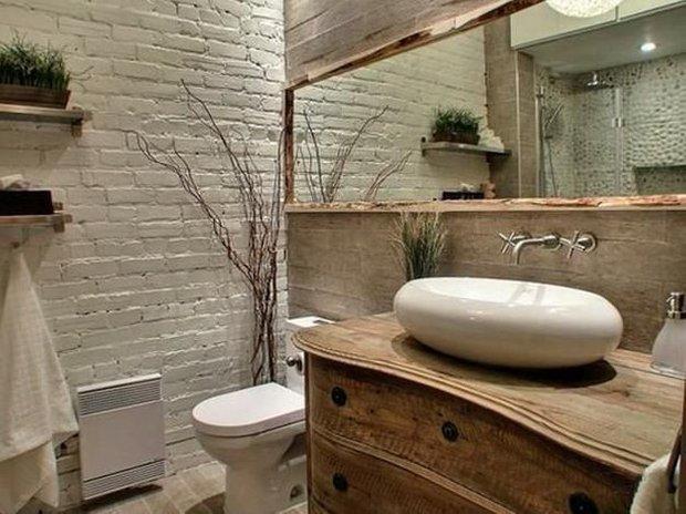 Фотография: Ванная в стиле Лофт, Классический, Эклектика, Декор, Минимализм, Ремонт на практике – фото на INMYROOM