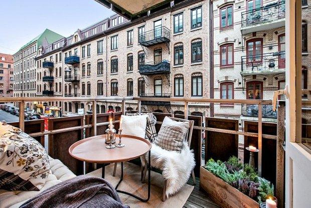 Фотография: Балкон в стиле Скандинавский, Эко, Декор интерьера, Квартира, Аксессуары, Декор, Белый – фото на INMYROOM