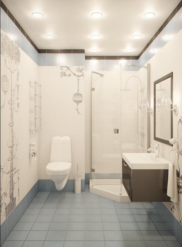 Фотография: Ванная в стиле Современный, Квартира, Gramercy Home, Дома и квартиры, IKEA, Проект недели – фото на INMYROOM