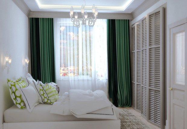 Фотография: Спальня в стиле Современный, Декор интерьера, Декор, текстиль в интерьере, декор окна, выбор штор для интерьера – фото на INMYROOM