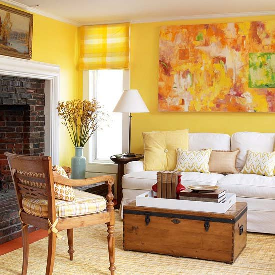 Фотография: Гостиная в стиле Прованс и Кантри, Декор интерьера, Дизайн интерьера, Цвет в интерьере, Dulux, ColourFutures, Akzonobel – фото на INMYROOM