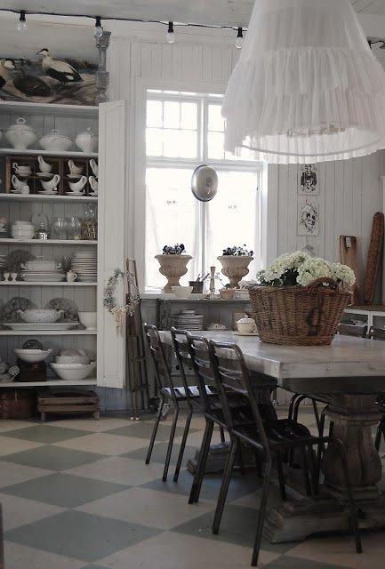 Фотография: Кухня и столовая в стиле Прованс и Кантри, Интерьер комнат, Шебби-шик – фото на INMYROOM