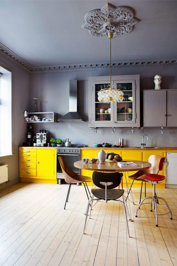 Фотография: Кухня и столовая в стиле Скандинавский, Советы, Желтый, Виктория Тарасова – фото на INMYROOM