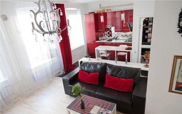 Фотография: Гостиная в стиле Эклектика, Квартира, Дома и квартиры, Советы – фото на InMyRoom.ru
