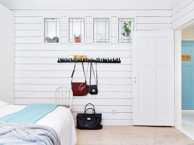 Фотография: Спальня в стиле Скандинавский, Современный, Декор интерьера, Квартира, Цвет в интерьере, Дома и квартиры, Стены, Гетеборг – фото на INMYROOM