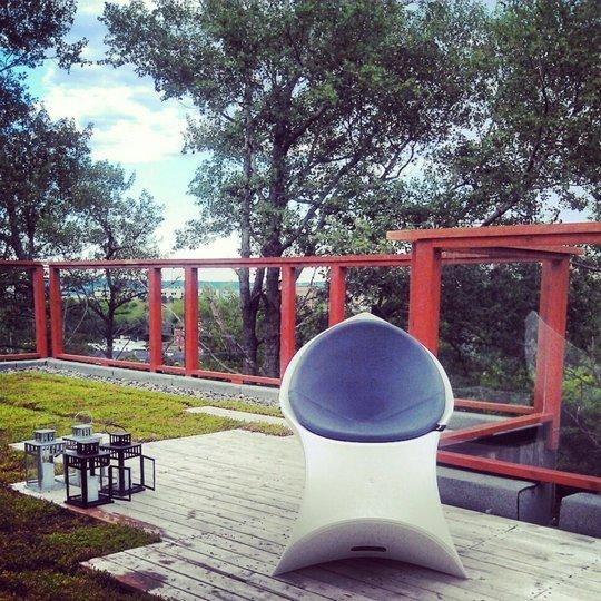 Фотография: Терраса в стиле Современный, Декор интерьера, Мебель и свет – фото на INMYROOM