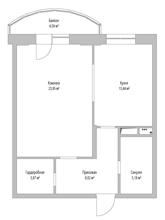 Фотография:  в стиле , Перепланировка, как из однушки сделать трешку, Светлана Старцева, Massimos, однокомнатная квартира для семьи, как обустроить однокомнатную квартиру для пары с ребенком – фото на INMYROOM