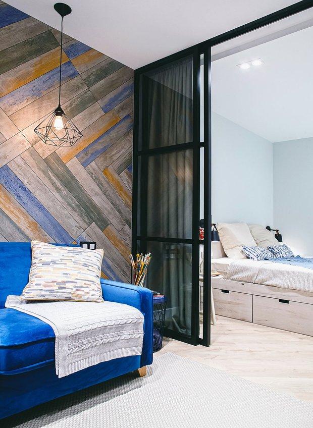 Фотография:  в стиле , Квартира, Студия, Планировки, Советы, 1 комната, до 40 метров, спальня в однушке – фото на INMYROOM