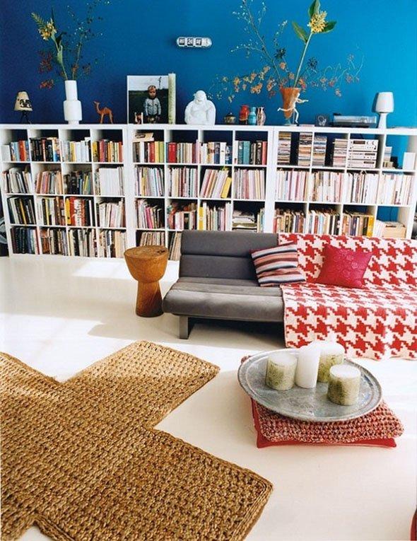 Фотография: Гостиная в стиле Современный, Системы хранения, Библиотека, Домашняя библиотека – фото на INMYROOM