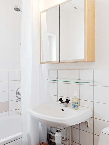 Фотография: Ванная в стиле Эко, Малогабаритная квартира, Квартира, Швеция, Дома и квартиры – фото на INMYROOM