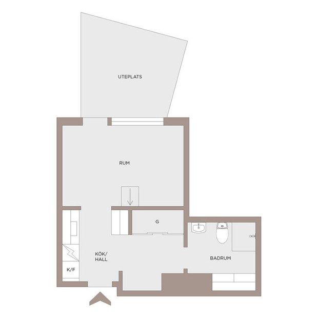 Фотография: Планировки в стиле , Скандинавский, Декор интерьера, Квартира, Белый, Минимализм, Бежевый, до 40 метров – фото на INMYROOM