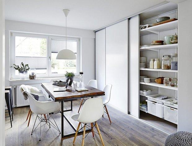 Фотография: Кухня и столовая в стиле Скандинавский, Малогабаритная квартира, Советы – фото на INMYROOM