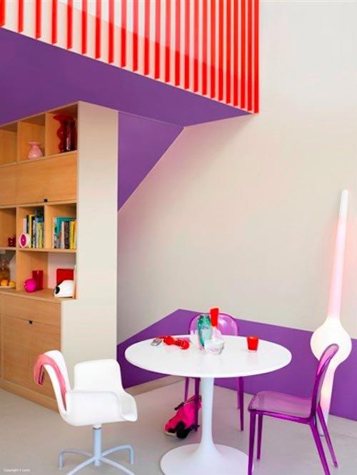 Фотография:  в стиле Современный, Декор интерьера, Дизайн интерьера, Цвет в интерьере, Желтый, Розовый, Оранжевый, Неон – фото на INMYROOM