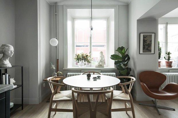 Фотография: Кухня и столовая в стиле Скандинавский, Декор интерьера, Малогабаритная квартира, Квартира, Студия, до 40 метров, Дорого и бюджетно – фото на INMYROOM