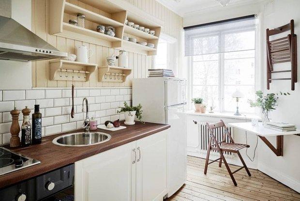 Фотография: Кухня и столовая в стиле Скандинавский, Перепланировка, Finnish – фото на INMYROOM