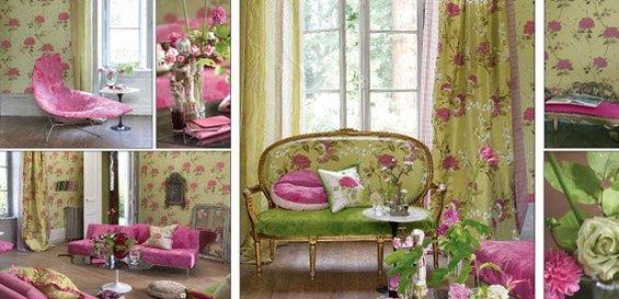 Фотография: Спальня в стиле Прованс и Кантри, Декор интерьера, Дизайн интерьера, Мебель и свет, Цвет в интерьере, Стены, Розовый, Фуксия – фото на INMYROOM