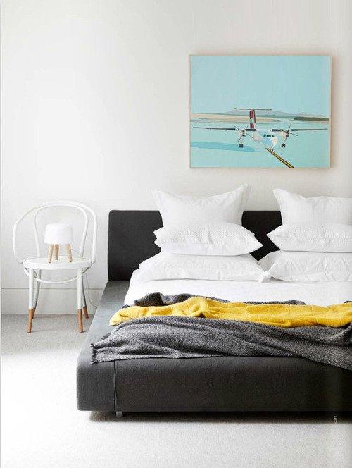 Фотография: Спальня в стиле Скандинавский, Современный, Цвет в интерьере – фото на INMYROOM