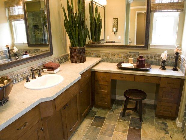 Фотография: Ванная в стиле Современный, Флористика, Советы, комнатные растения для ванной комнаты – фото на INMYROOM
