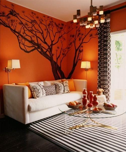 Фотография: Гостиная в стиле Современный, Восточный, Декор интерьера, Дизайн интерьера, Цвет в интерьере – фото на INMYROOM