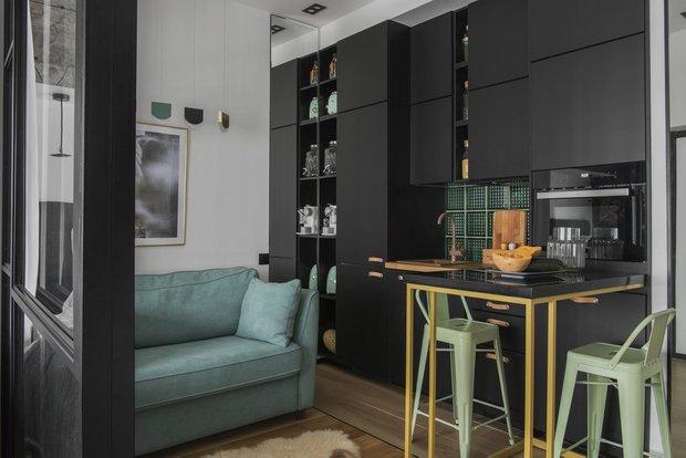 Фотография:  в стиле , Современный, Малогабаритная квартира, Квартира, Студия, Советы, 1 комната – фото на INMYROOM