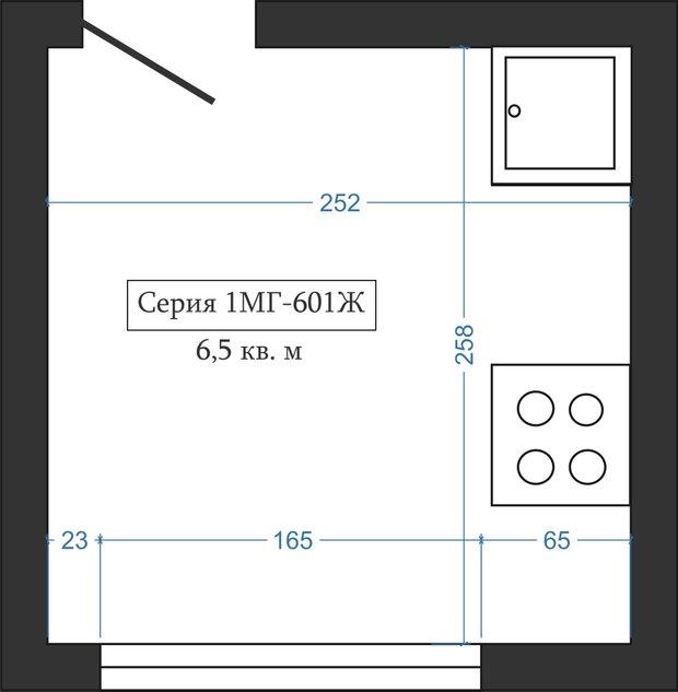 Фотография: Планировки в стиле , Кухня и столовая, Перепланировка, Анастасия Киселева, Максим Джураев, II-57, II-18-12 – фото на INMYROOM