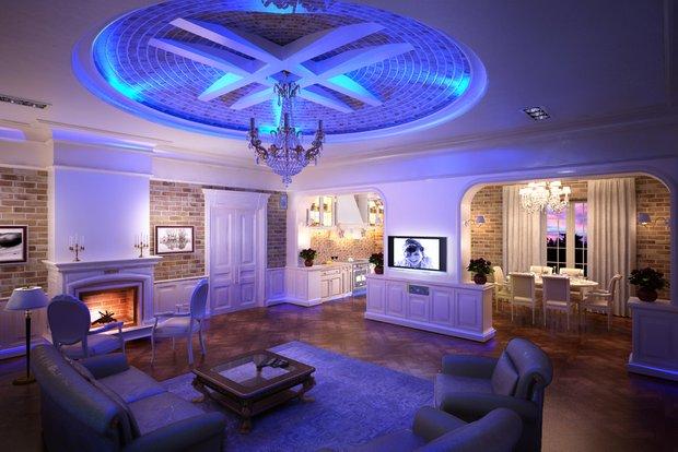 Фотография: Гостиная в стиле Прованс и Кантри, Классический, Лофт, Современный, Декор интерьера, Мебель и свет – фото на INMYROOM