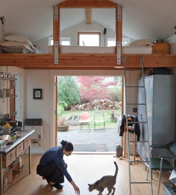 Фотография:  в стиле , Советы, Бежевый, Серый, Мебель-трансформер, кровать-трансформер, диван-кровать – фото на INMYROOM