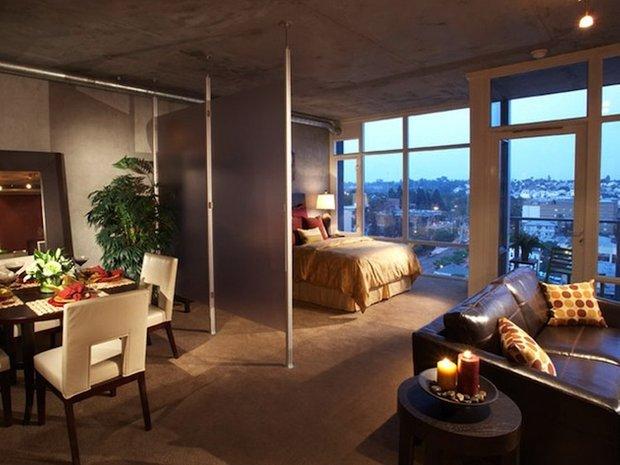 Фотография: Гостиная в стиле Лофт, Современный, Малогабаритная квартира, Квартира, Дома и квартиры – фото на InMyRoom.ru